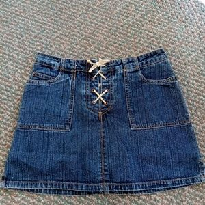 Jordache Denim lace up Skort